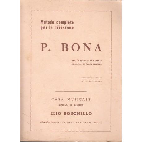 Pasquale BONA Metodo completo per la divisione - Elio Boschello
