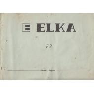 Manuale Tecnico / Schemi Fisarmonica ELKA F3