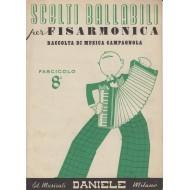 Raccolta spartiti scelti BALLABILI PER FISARMONICA Musica Campagnola n.8 - 13 Brani