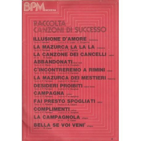 Raccolta Canzoni di Successo: 12 spartiti con testi.