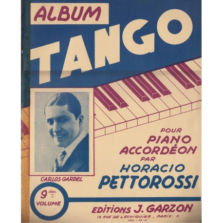 Album TANGO Vol.9 (per PIANO e FISARMONICA) - 11 Brani di HORACIO PETTOROSSI