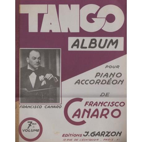 Album TANGO Vol.7 (per PIANO e FISARMONICA) - 12 Brani di FRANCISCO CANARO
