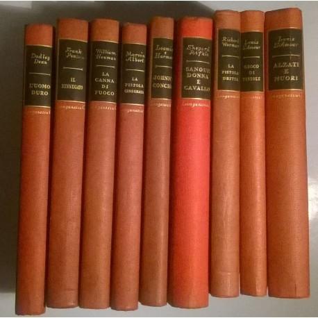 Western: raccolta di Suspense Longanesi rilegati (9 volumi).
